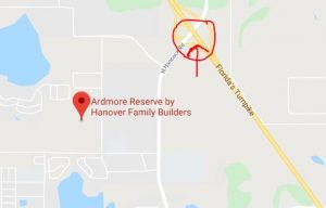 Ardmore Reserve Map close to the Turnpike